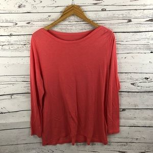 J. Jill Knit Boat Neck Elliptical Tee Size Large